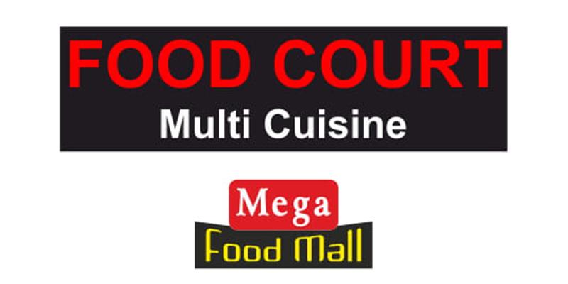 Food Court Mega Food Mall Banner